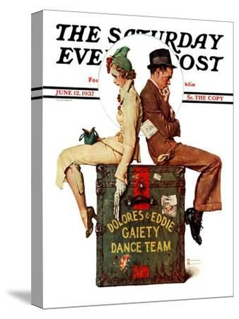 """""""Gaiety Dance Team"""" Saturday Evening Post Cover, June 12,1937"""