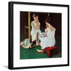 """""""Girl at the Mirror"""", March 6,1954 by Norman Rockwell"""