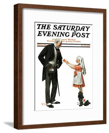 """""""Giving to Red Cross"""" Saturday Evening Post Cover, September 21,1918"""