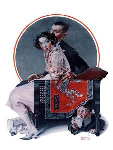 """""""God Bless You"""" or """"Sneezing Boy"""", October 1,1921 by Norman Rockwell"""