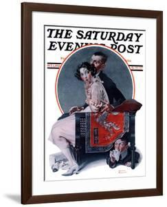 """""""God Bless You"""" or """"Sneezing Boy"""" Saturday Evening Post Cover, October 1,1921 by Norman Rockwell"""