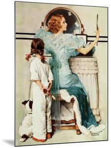 """Going Out"", October 21,1933 by Norman Rockwell"