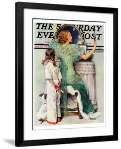 """""""Going Out"""" Saturday Evening Post Cover, October 21,1933 by Norman Rockwell"""