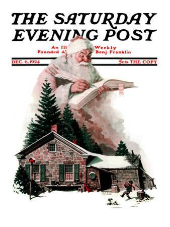 """Good Deeds"" Saturday Evening Post Cover, December 6,1924 by Norman Rockwell"