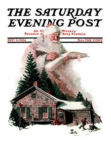 """""""Good Deeds"""" Saturday Evening Post Cover, December 6,1924 by Norman Rockwell"""