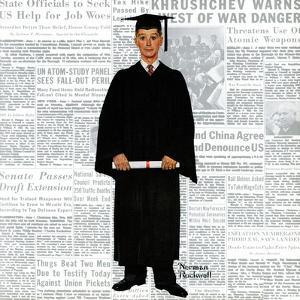"""Graduate"", June 6,1959 by Norman Rockwell"