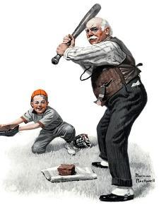 """""""Gramps at the Plate"""", August 5,1916 by Norman Rockwell"""
