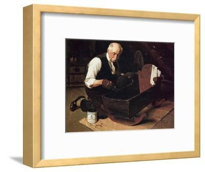 Grandpa's Gift (or Grandfather Varnishing the Cradle; Up in the Garret)
