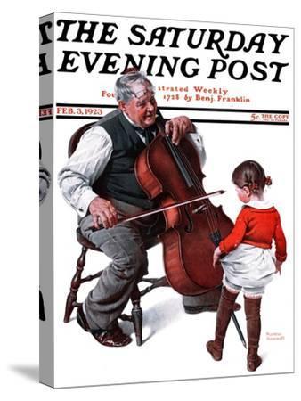 """""""Grandpa's Little Ballerina"""" Saturday Evening Post Cover, February 3,1923"""