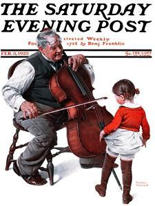 """Grandpa's Little Ballerina"" Saturday Evening Post Cover, February 3,1923 by Norman Rockwell"
