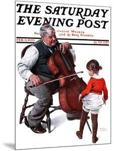 """""""Grandpa's Little Ballerina"""" Saturday Evening Post Cover, February 3,1923 by Norman Rockwell"""