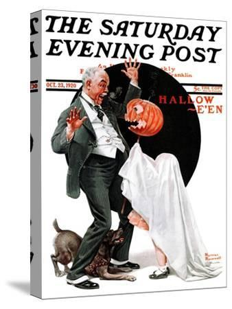 """Halloween"" Saturday Evening Post Cover, October 23,1920"