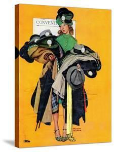 """Hatcheck Girl"", May 3,1941 by Norman Rockwell"