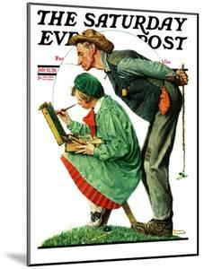"""Hayseed Critic"" Saturday Evening Post Cover, July 21,1928 by Norman Rockwell"