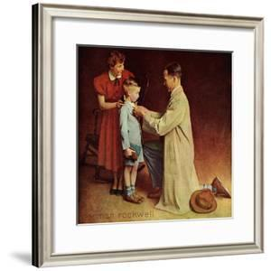 His First Day at School by Norman Rockwell