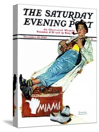 """Hitchhiker to Miami"" Saturday Evening Post Cover, November 30,1940"