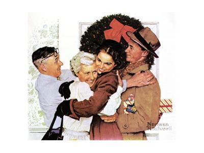 Home for Christmas by Norman Rockwell