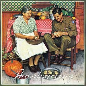 """Home for Thanksgiving"", November 24,1945 by Norman Rockwell"