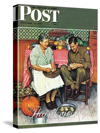 """""""Home for Thanksgiving"""" Saturday Evening Post Cover, November 24,1945"""