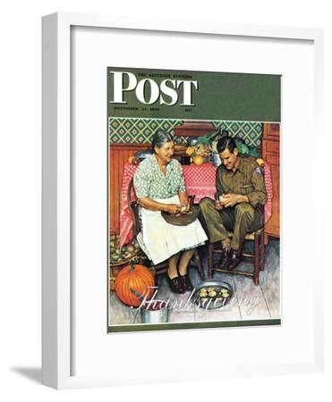 """Home for Thanksgiving"" Saturday Evening Post Cover, November 24,1945"