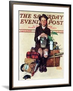 """""""Home from Camp"""" Saturday Evening Post Cover, August 24,1940 by Norman Rockwell"""