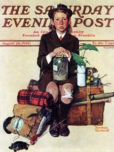 """Home from Camp"" Saturday Evening Post Cover, August 24,1940 by Norman Rockwell"