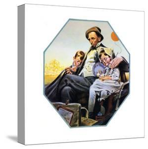 Home from the County Fair (or Father and Children in Carriage) by Norman Rockwell