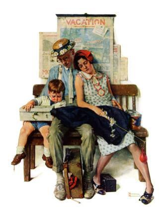 """""""Home from Vacation"""", September 13,1930 by Norman Rockwell"""