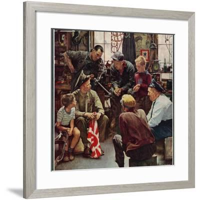 """""""Homecoming Marine"""", October 13,1945 by Norman Rockwell"""