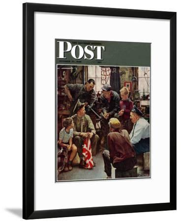 """Homecoming Marine"" Saturday Evening Post Cover, October 13,1945"