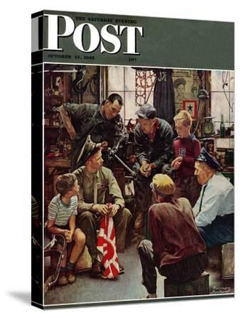 """""""Homecoming Marine"""" Saturday Evening Post Cover, October 13,1945"""