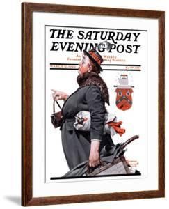 """""""Housekeeper"""" Saturday Evening Post Cover, March 27,1920 by Norman Rockwell"""