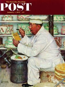 """""""How to Diet"""" Saturday Evening Post Cover, January 3,1953 by Norman Rockwell"""