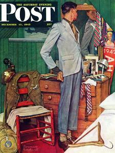 """""""Imperfect Fit"""" Saturday Evening Post Cover, December 15,1945 by Norman Rockwell"""