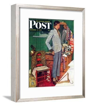 """Imperfect Fit"" Saturday Evening Post Cover, December 15,1945"