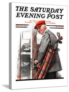 """""""Important Business"""" Saturday Evening Post Cover, September 20,1919 by Norman Rockwell"""
