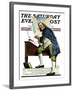 """""""Independence"""" or """"Ben Franklin"""" Saturday Evening Post Cover, May 29,1926 by Norman Rockwell"""
