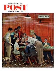"""""""Jury"""" or """"Holdout"""" Saturday Evening Post Cover, February 14,1959 by Norman Rockwell"""