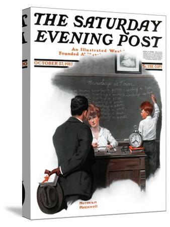 """Knowledge is Power"" Saturday Evening Post Cover, October 27,1917"