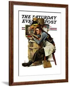 """Law Student"" Saturday Evening Post Cover, February 19,1927 by Norman Rockwell"