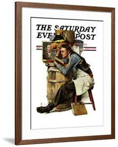 """""""Law Student"""" Saturday Evening Post Cover, February 19,1927 by Norman Rockwell"""