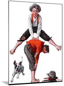 """Leapfrog"", June 28,1919 by Norman Rockwell"