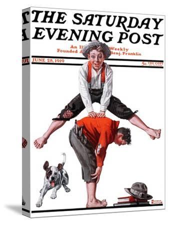 """Leapfrog"" Saturday Evening Post Cover, June 28,1919"
