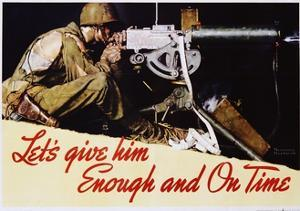 Let's Give Him Enough and on Time Poster by Norman Rockwell