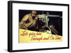 Let's Give Him Enough and on Time by Norman Rockwell