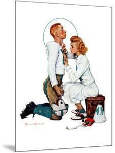 """""""Letter Sweater"""" (boy & girl), November 19,1938 by Norman Rockwell"""