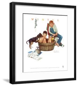 Lickin' Good Bath by Norman Rockwell