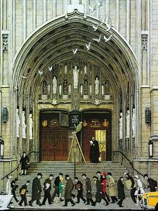 Lift Up Thine Eyes by Norman Rockwell