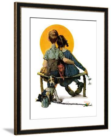 """""""Little Spooners"""" or """"Sunset"""", April 24,1926 by Norman Rockwell"""