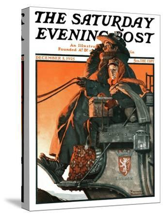 """London Coach"" Saturday Evening Post Cover, December 5,1925"